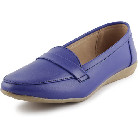 Style Buy Style Blue Loafer Shoes For Women