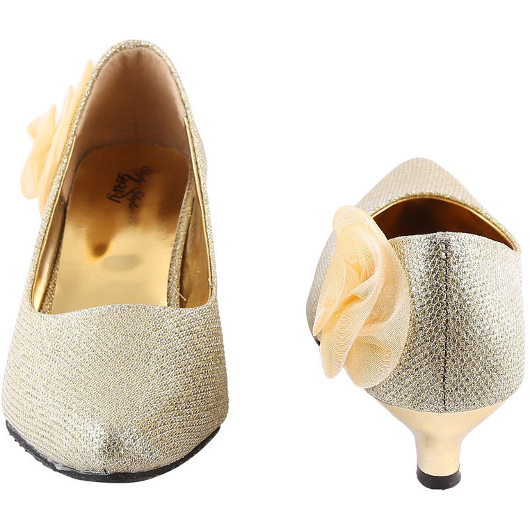 Style Buy Style Gold Low Heel Bellies For Women