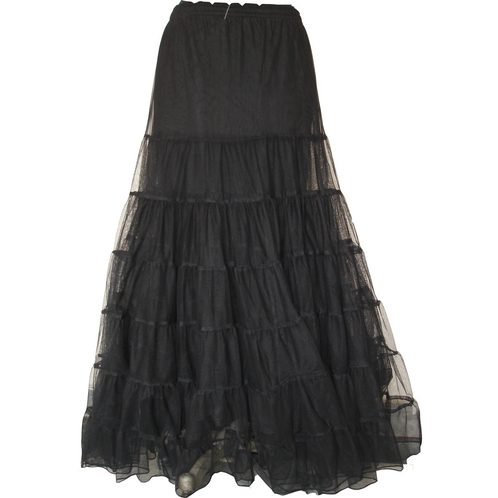 Gothic Long Skirt Punk Prom Halloween Party Costume Black Color