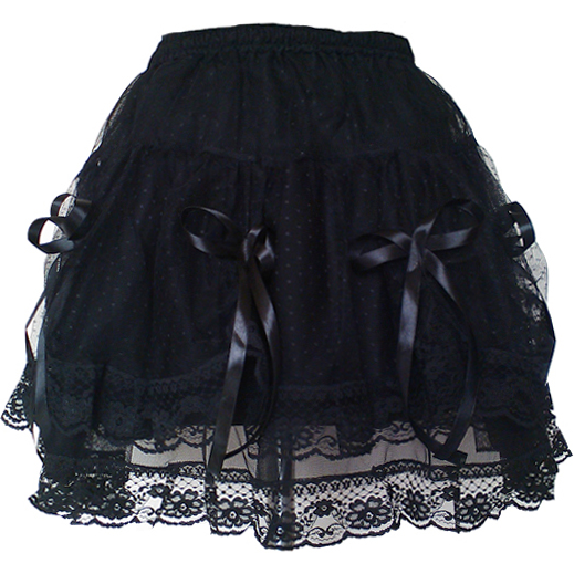 Gothic Short Skirt Prom Party Wear Punk Halloween Black Costume