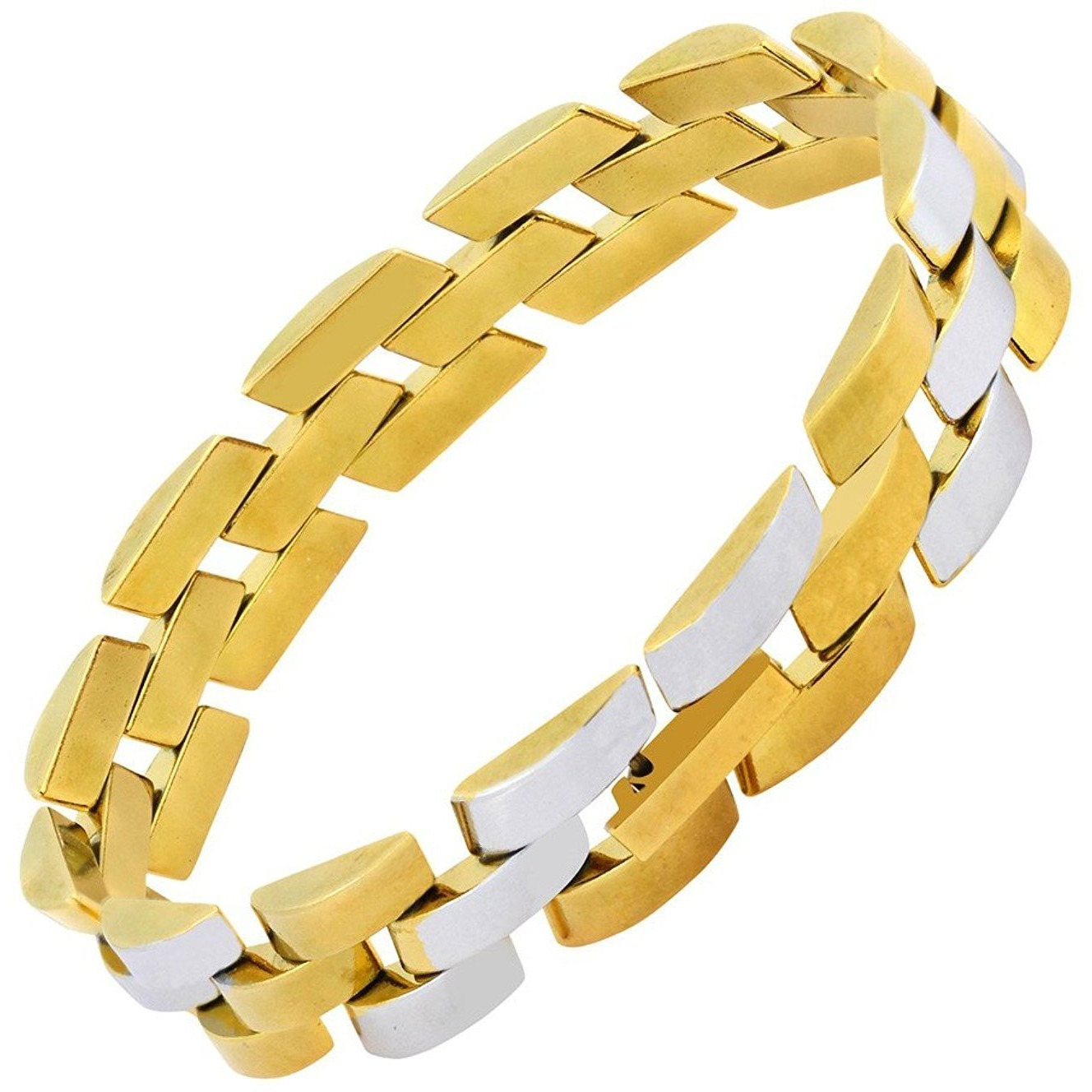Zivom Surgical Stainless Steel 18K Gold Rhodium Plated Bracelet Men
