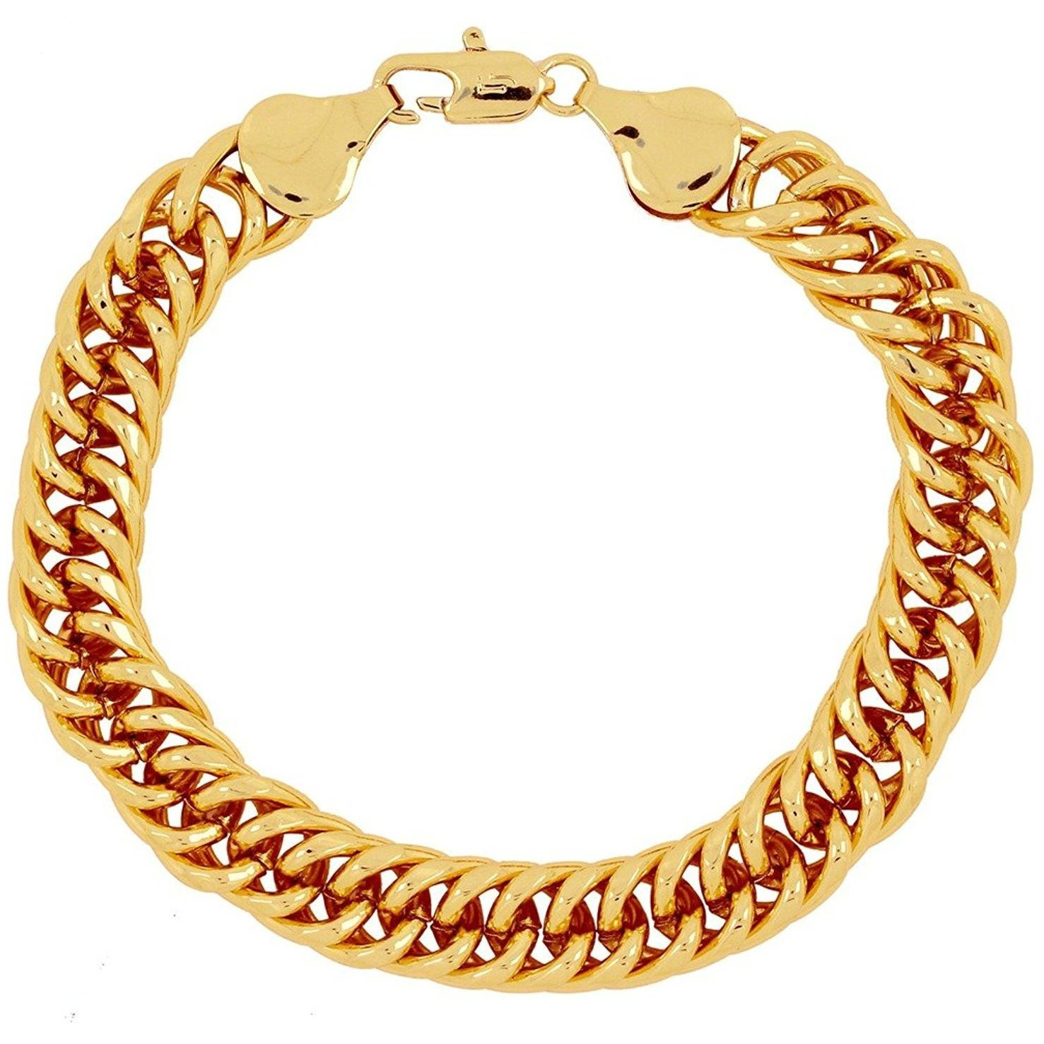 mens men link plated goldplated free today palmbeach s overstock accent yellow gold curb diamond product shipping jewelry watches bracelet