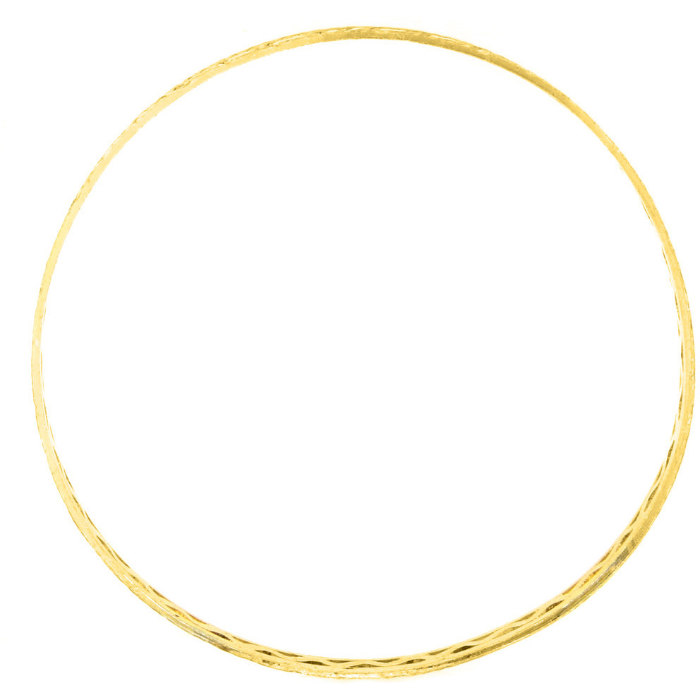 Zivom Waves 22K Gold Rhodium Plated Two Tone Bangle Set Of 4 For Women