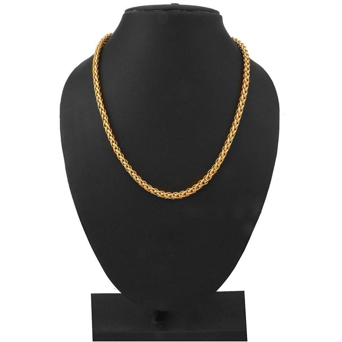 Zivom Gold Plated Wheat Spiga Franco Stainless Steel Chain 21.5