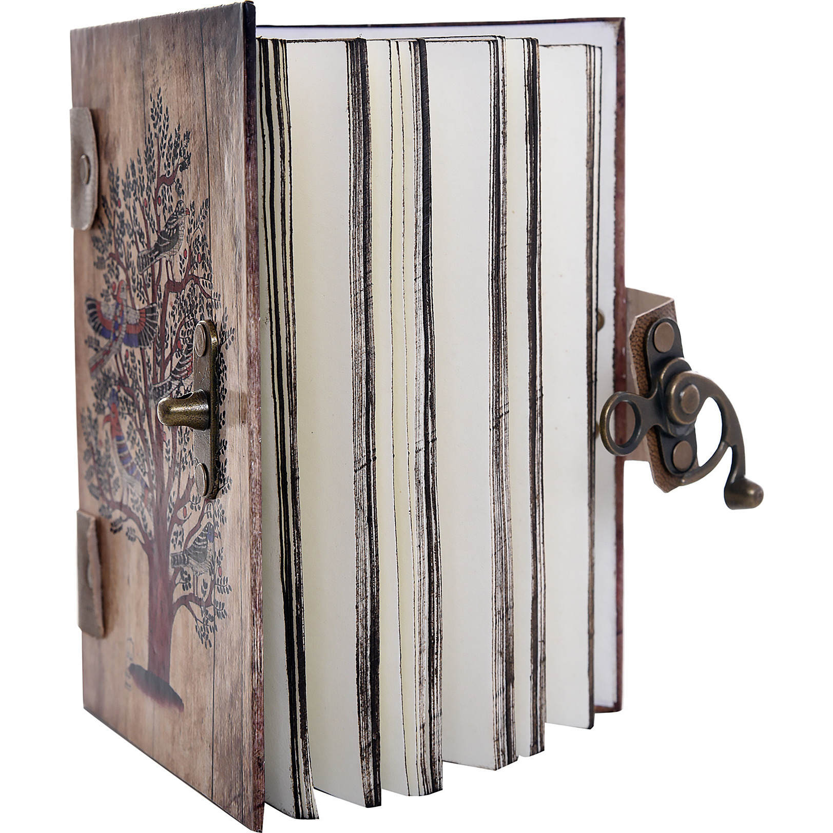 Antique Tree Print Special Binding With Leather Straps Journal Diary Notebook Christmas Gifts