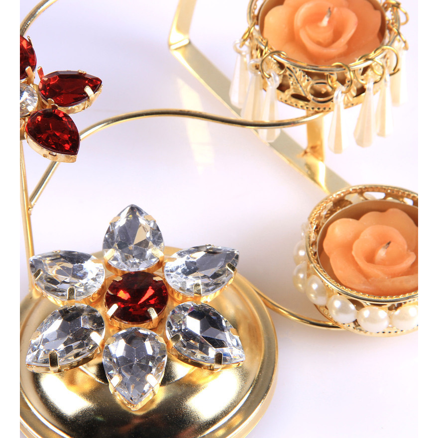 Candle Stand Holder Multicolour Metal Diwali Dc)Cor Tea Light Decorative Stand Christmas A10