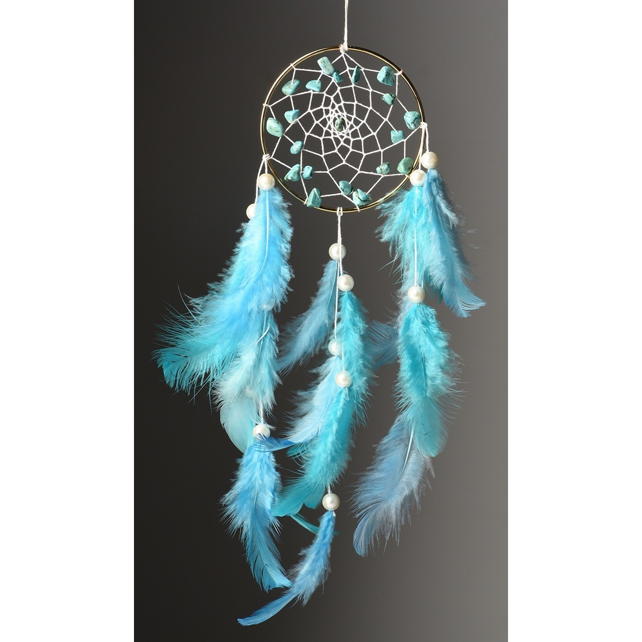 Wall Hanging Handmade Feathers Dream Catcher Tibetian Blue Car Hanging