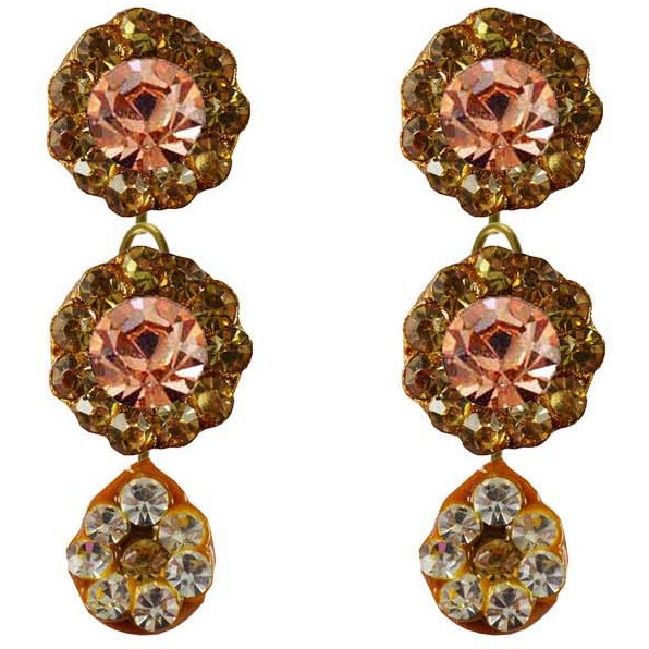 Multi Stone Stud-Handmade Lac Pure Lakh Earring Ethnic Stud Fashion Jewelry