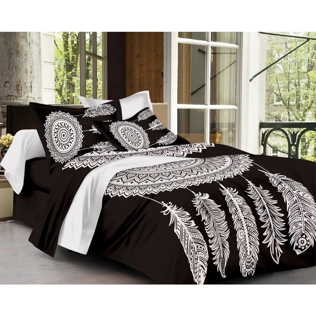 Indian Handmade Bed Cover Vintage Cotton Bedspread Bohemian Bedding Coverlet