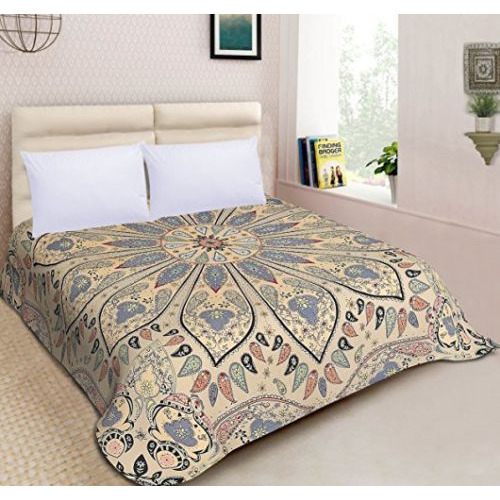 Ombre Mandala Duvet Cover Reversible Quilt Doona Cover Indian Throw Bedding Set