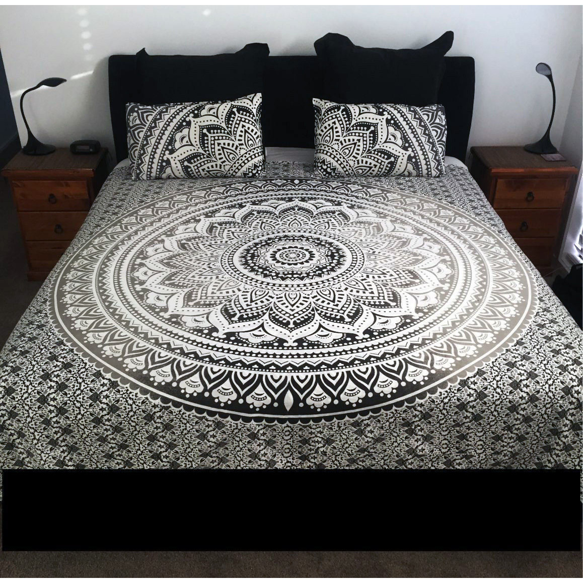 Indian Mandala Duvet Cover Reversible Cotton Quilt Donna Cover Bedding Throw