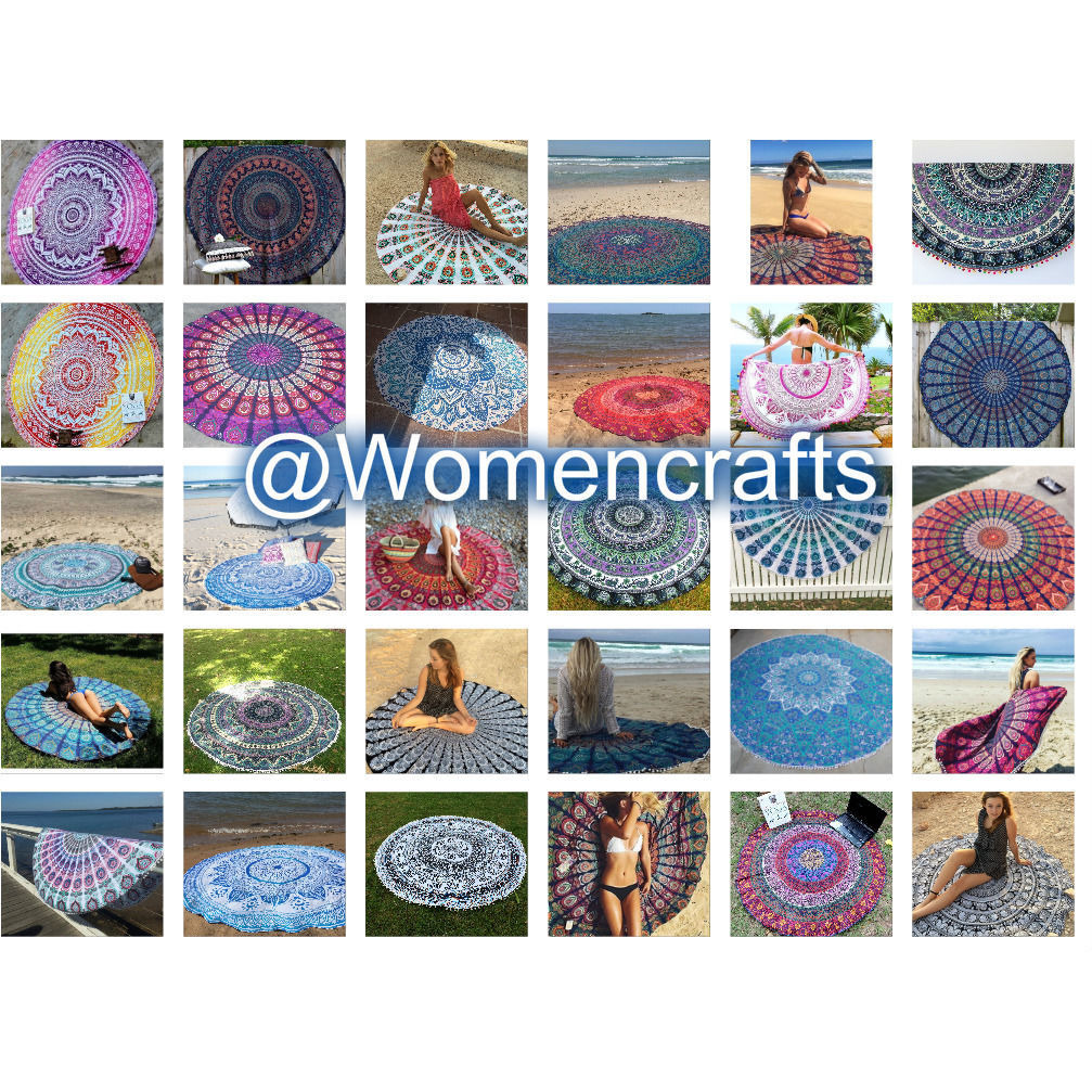 10 Pcs Wholesale Lot 70'' Mandala Round Roundie Beach Throw Indian Tapestry Art