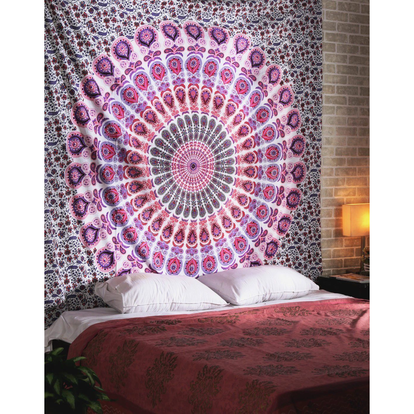 Indian Queen Mandala Tapestry Wall Hanging Throw