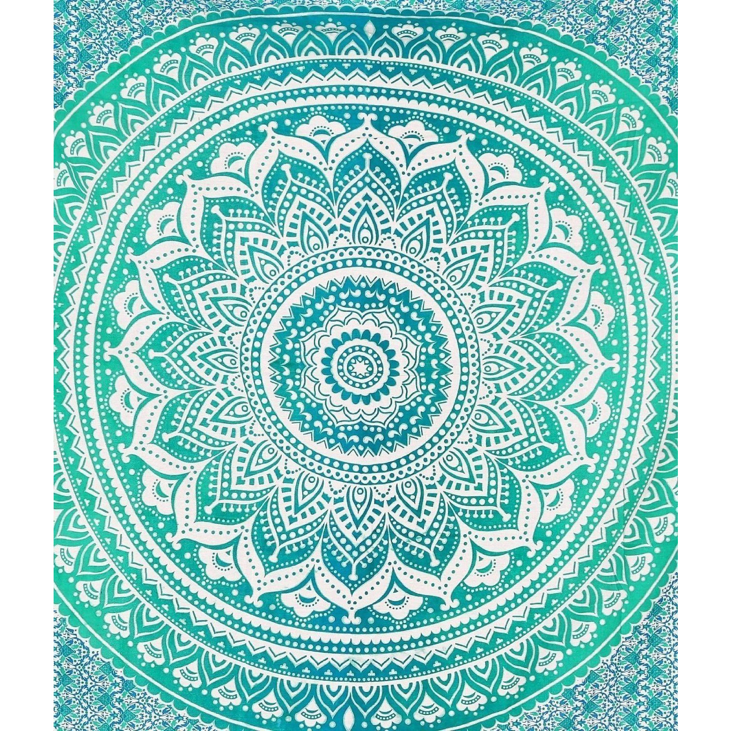 Queen Ombre Mandala Tapestry Hippie Wall Hanging Throw Indian Bohemian Bedspread