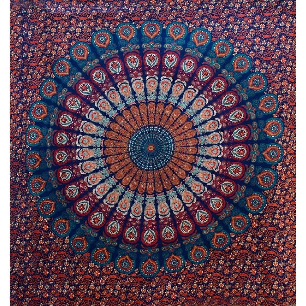 Large Indian Mandala Tapestry Wall Hanging Throw Bohemian Bedspread Dorm Decor