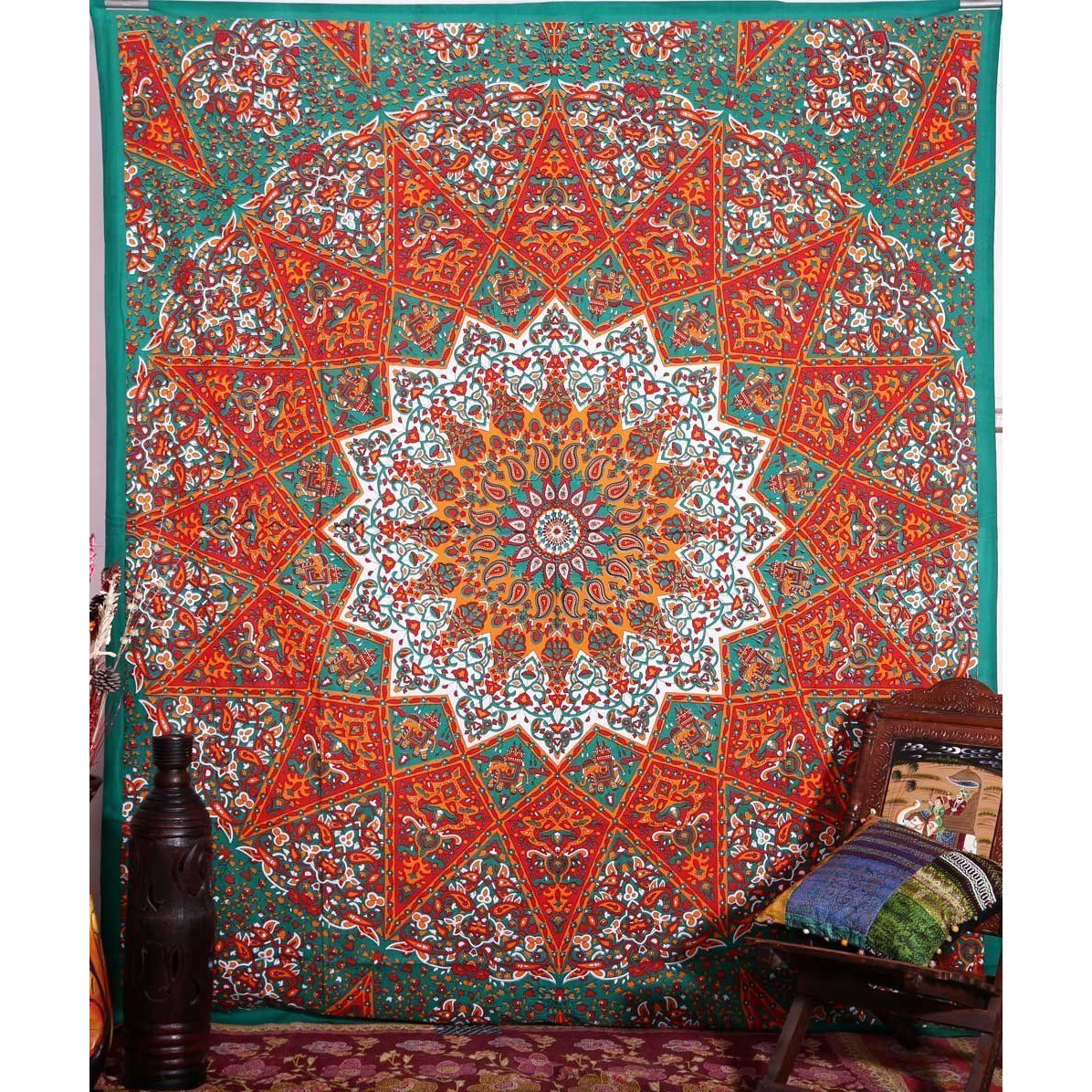 Bohemian Decor Bedspread Throw Queen Hippie Mandala Tapestry Indian Wall Hanging