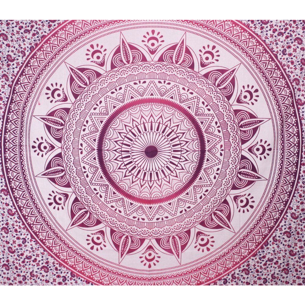 Indian Queen Mandala Tapestry Hippie Wall Hanging Throw Bohemian Decor Bedspread