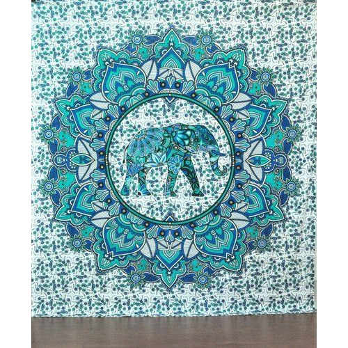 Indian Hippie Wall Hanging Decor Bohemian Bedspread Throw Queen Mandala Tapestry