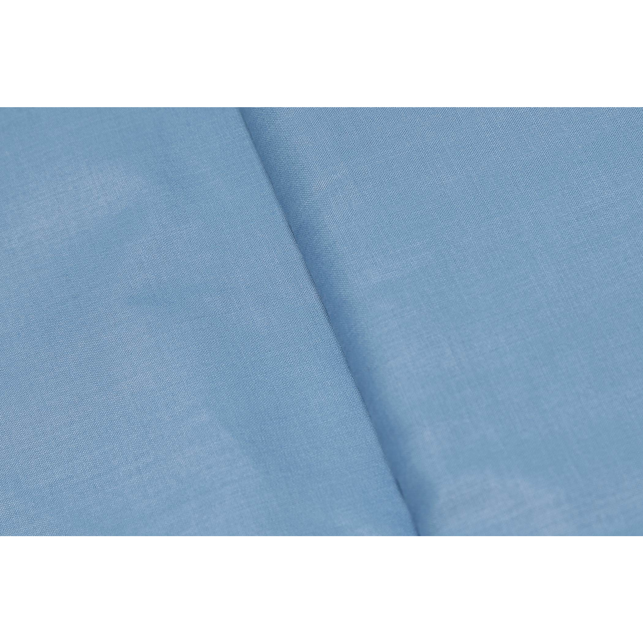 Sojanya (Since 1958)B 3 Metres Cotton Blend Shirt Fabric Solid Fine Quality