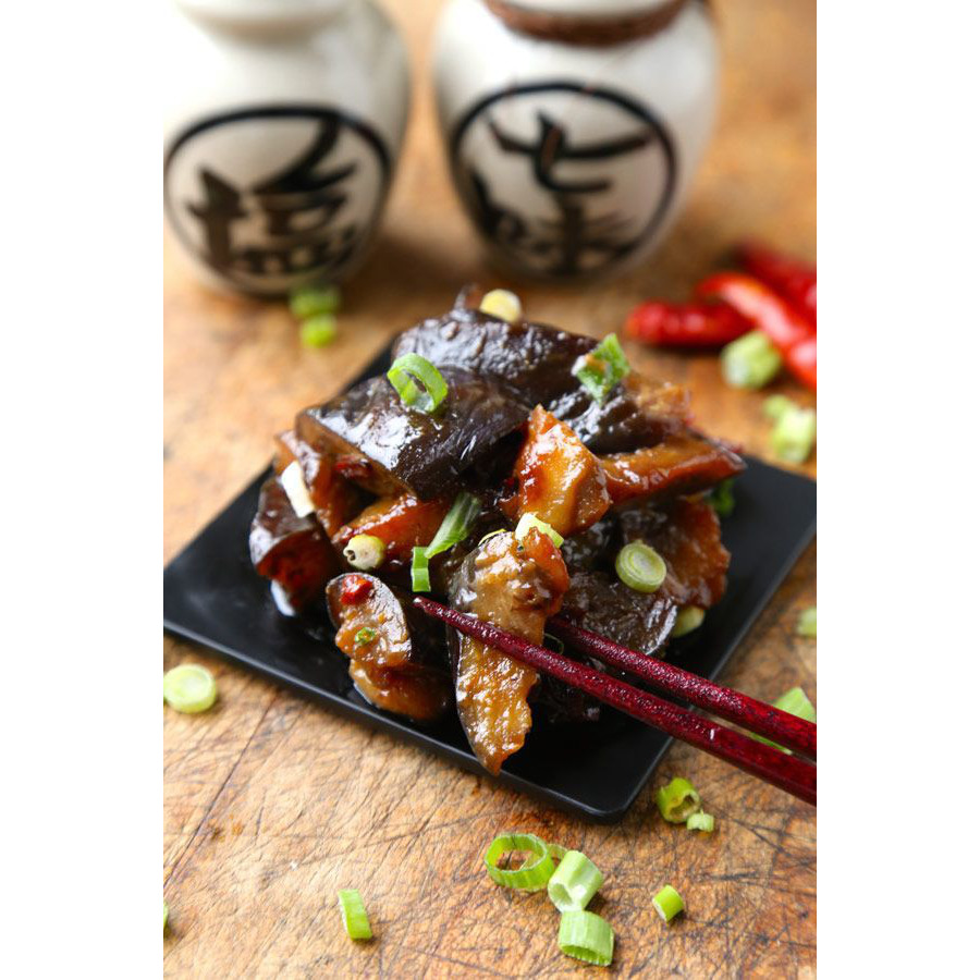 Eggplant with Paneer in Spicy Hoisin Sauce