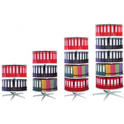 Abs Plastic Roundafile Cabinet Stand 3 Tier For Storing And Retrieving Office Files & Folders