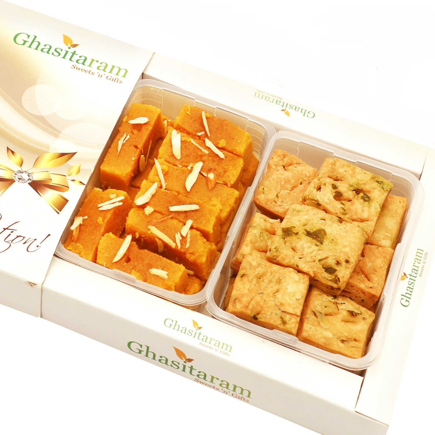 Mithai Hampers - Mysore Pak And Methi Mathri Hamper