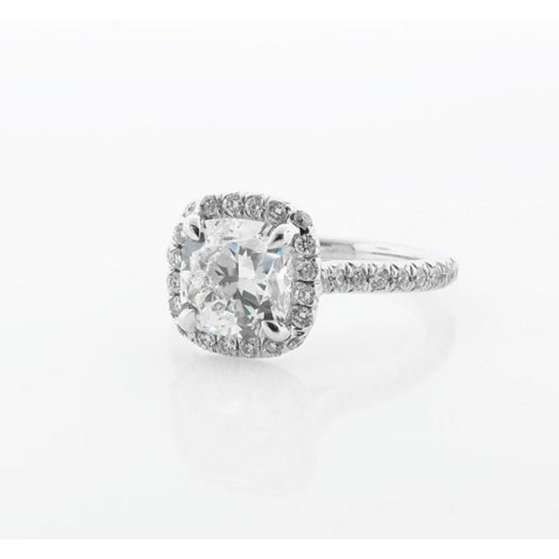 Women 1.60 ct Diamond Engagement Ring  14KT White Gold Diamond Ring Jewelry