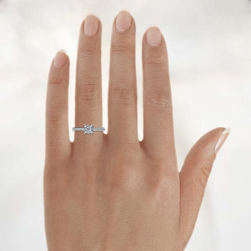 Women 2.00 ct Diamond Engagement Rings  14KT White Gold Diamond Ring Brand Jewelry