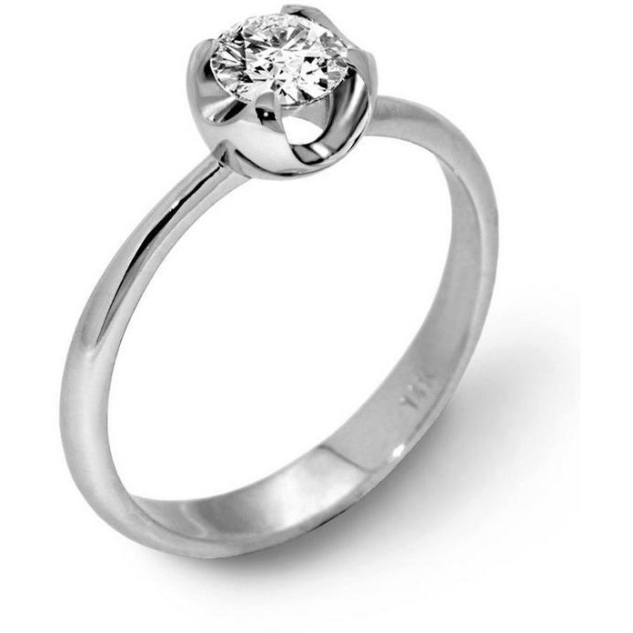 Daily Wear Sterling Silver Cz Solitaire Ring