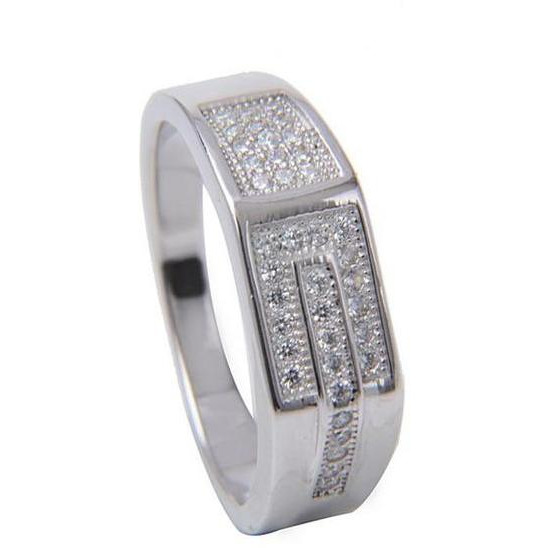 Sterling Silver Plated Gents Casual Ring