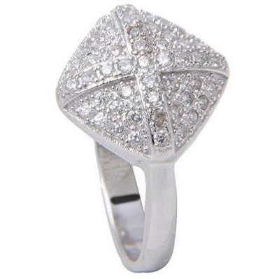 Gracious Womens Ring In 925 Silver Plated