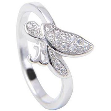 Classy Buttterfly 925 Sterling Silver Plated Ring