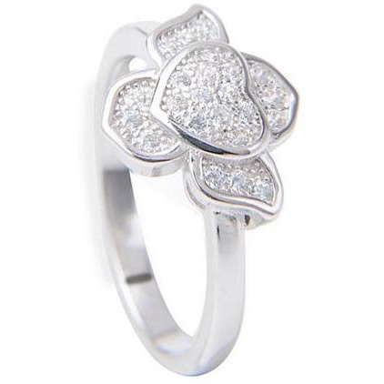 Classy Heart 925 Sterling Silver Casual Ring For Womens