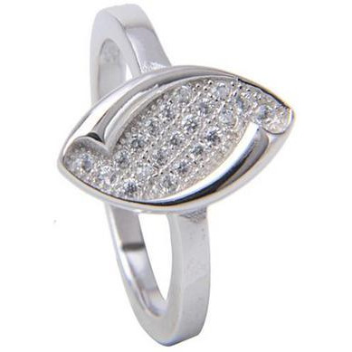 Fancy Mrquise Shape Sterling Silver Plated  Casual Ring For Womens