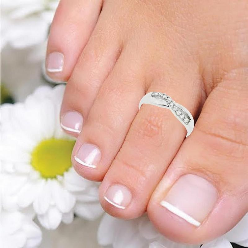 Women Lady Unique Retro Silver Plated Nice Toe-Ring