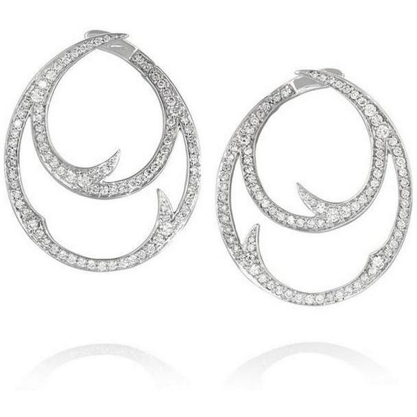 925 Sterling Silver Cz Earring Set