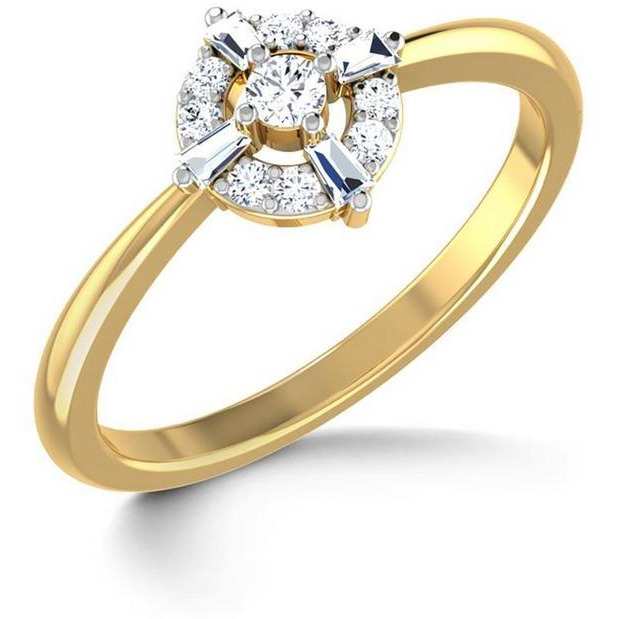 Cubic Zirconia Solitaire With Bugget Ring In Silver