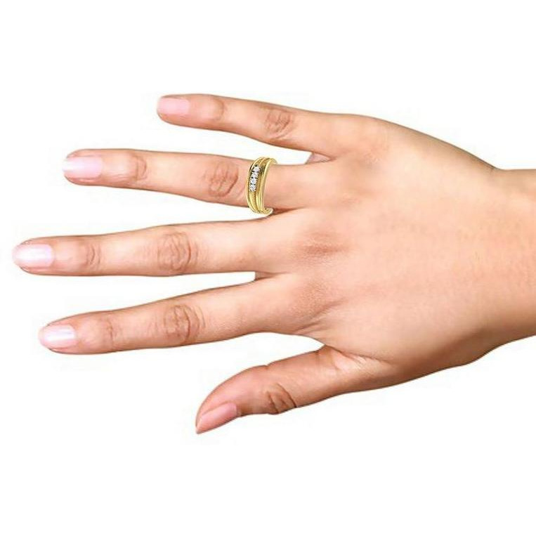 4 Stone Silver Ring For Women's