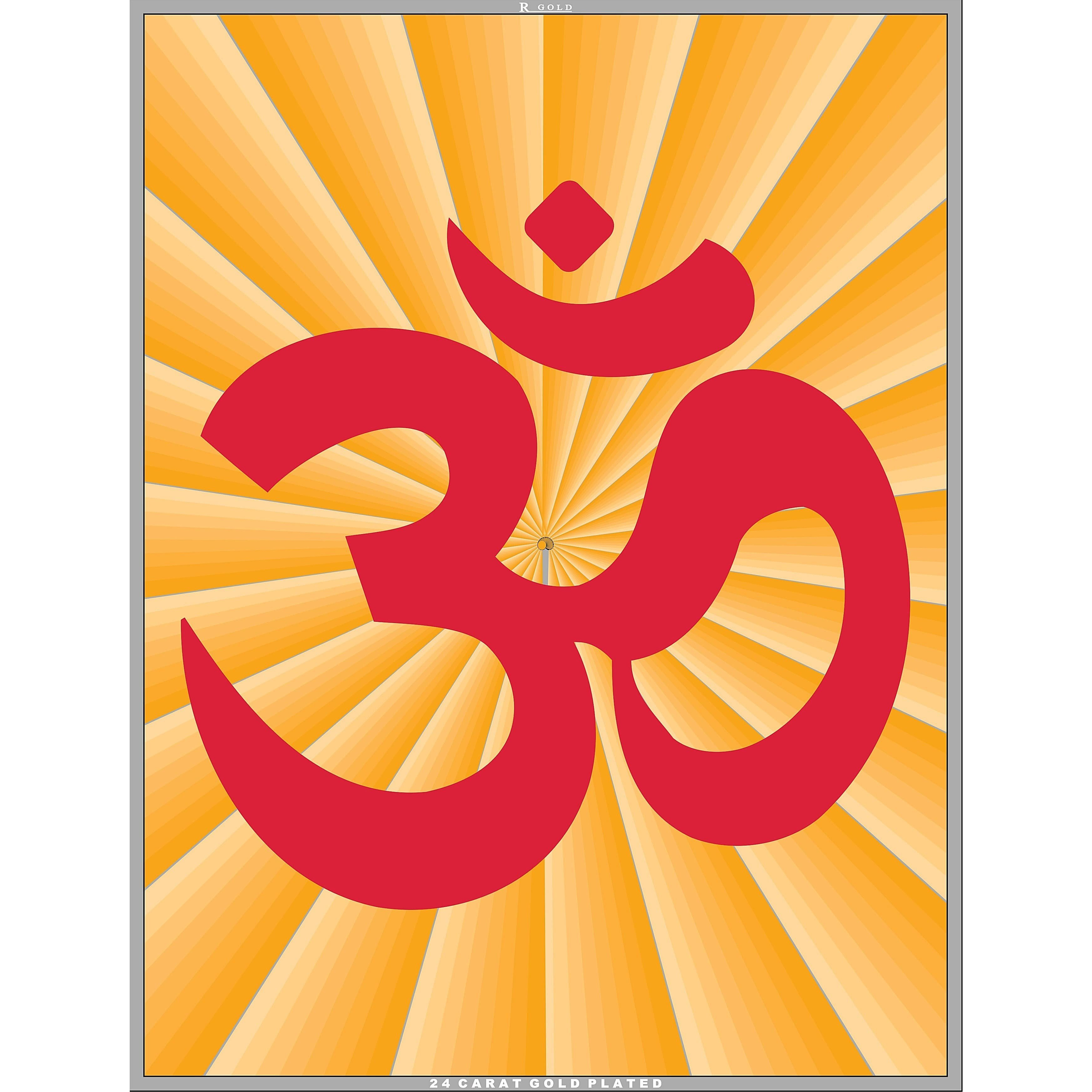 68dc0b38153 Buy Online 24 Carat Gold Plated OM   AUM Symbol Wall Picture Frame from USA  - Zifiti.com - Page