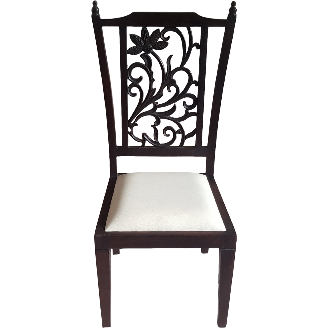 Buy Online Teak Wood Carved Back Dining Chairs   Set Of 6 From USA    Zifiti.com   Page