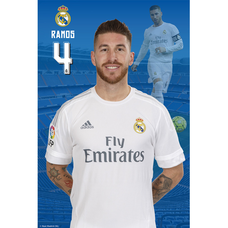 Real Madrid C.F. Mini Poster Sticker Ramos 36