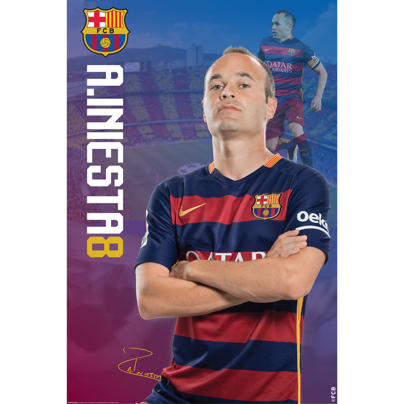 F.C. Barcelona Large Poster A. Iniesta 20