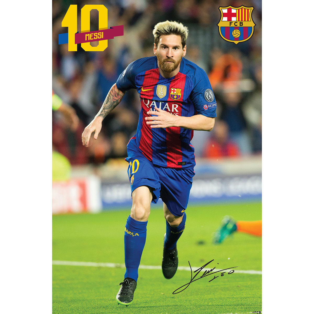 F.C. Barcelona Mini Poster Sticker Messi 11