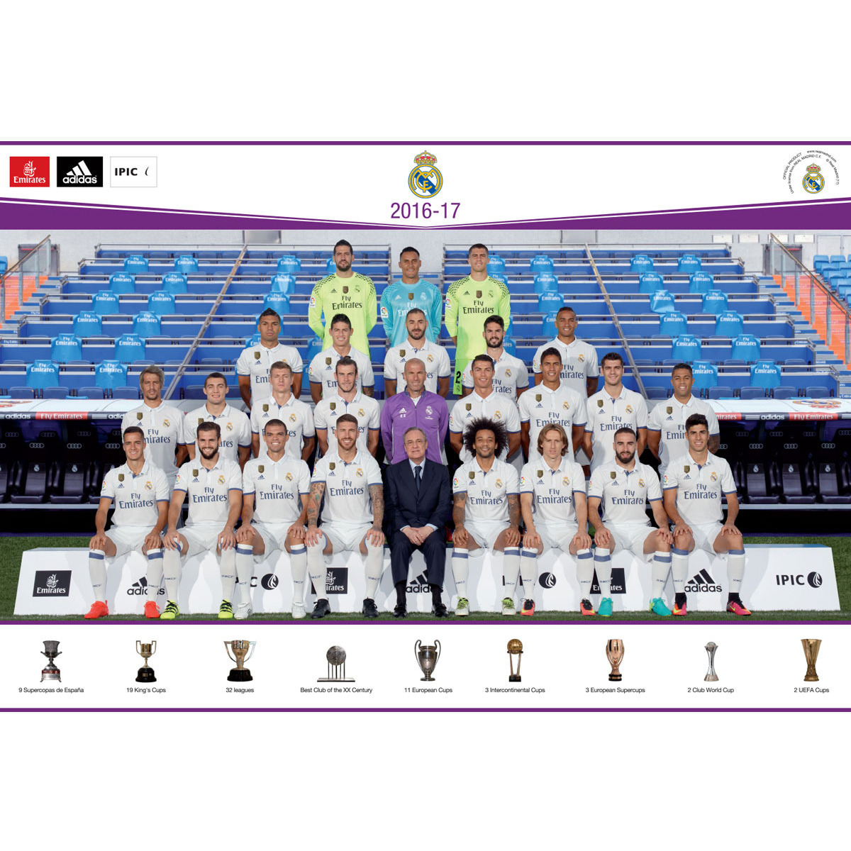 Real Madrid C.F. Mini Poster Sicker Club 58