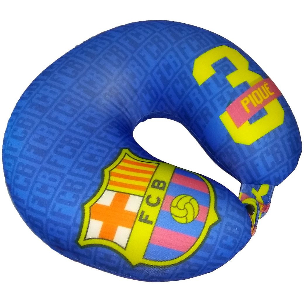 F.C. Barcelona Neck Cushion/Travel Pillow Pique No. 3