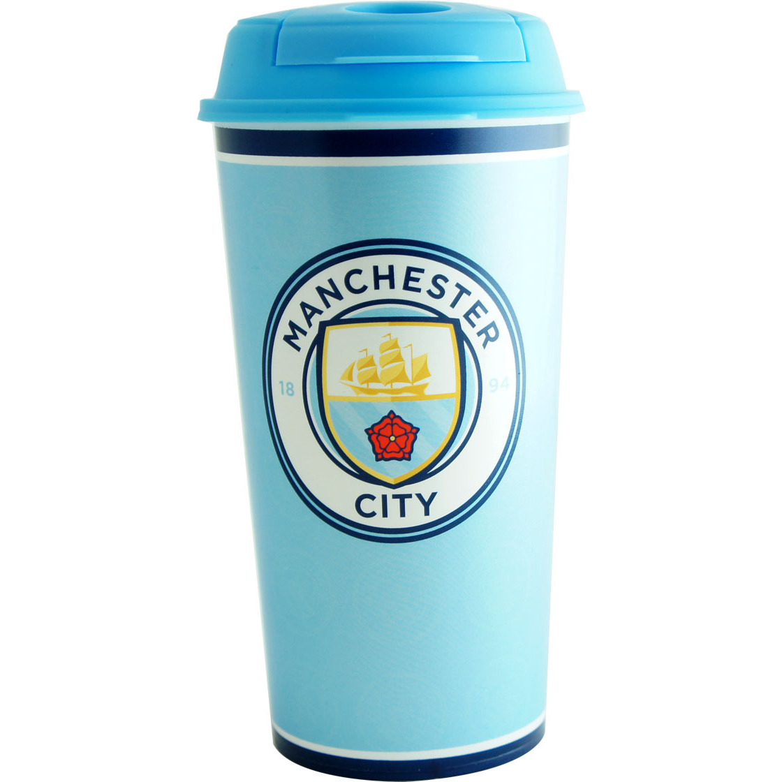 Manchester City F.C. Travel Plastic Bottle/Mug Crest