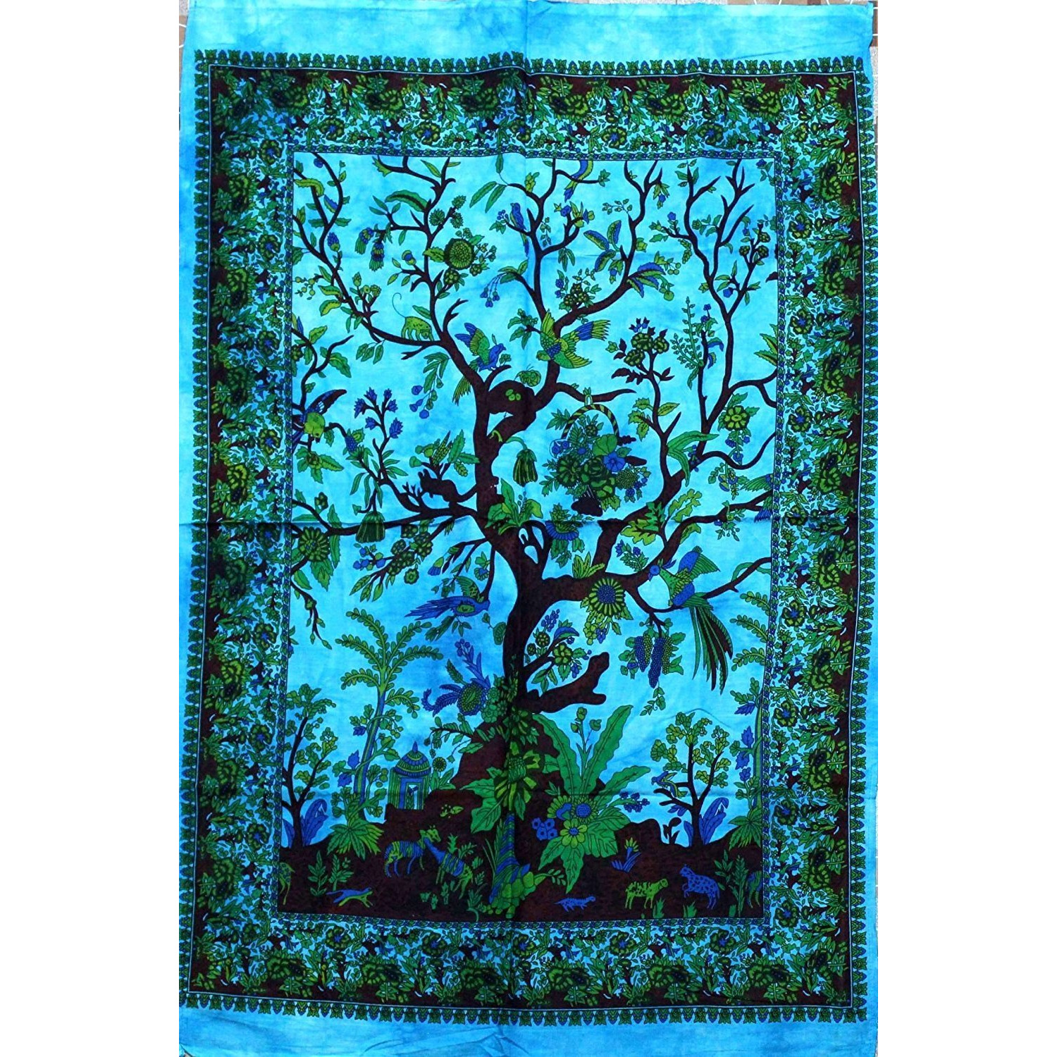 Tree of Life Tie-Dye Tapestry Cloth Wall Hanging Poster