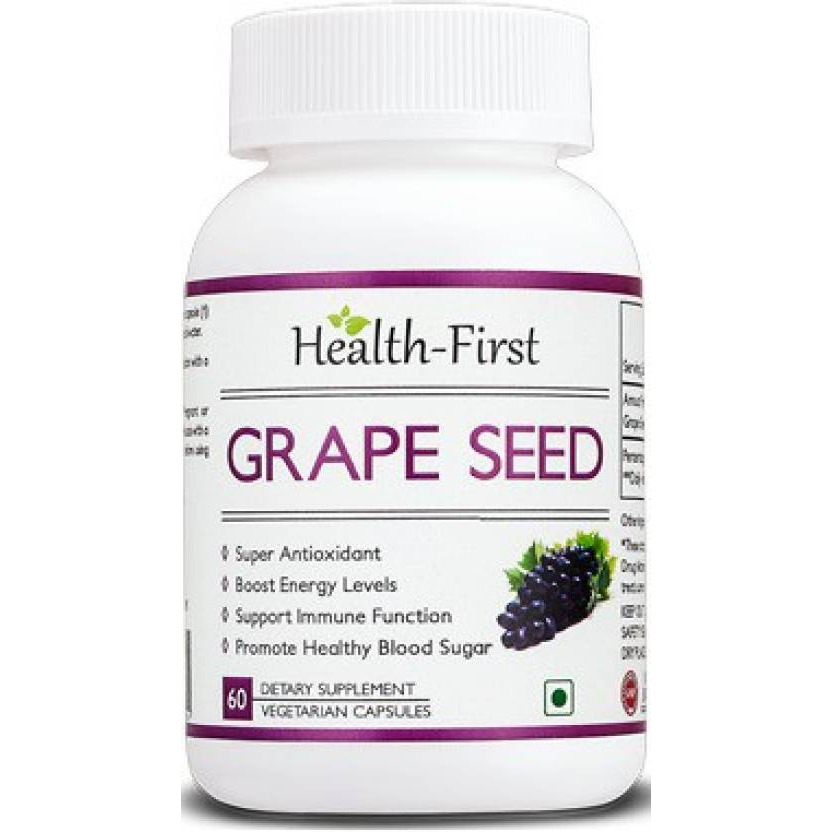 Health-first Grape Seed Extract 500mg, 60 Vcaps