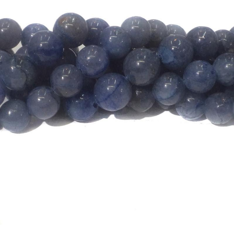 Beadsnfashion Jewellery making Iolite Dite stone beads, size 8mm, pack of 2 Strings