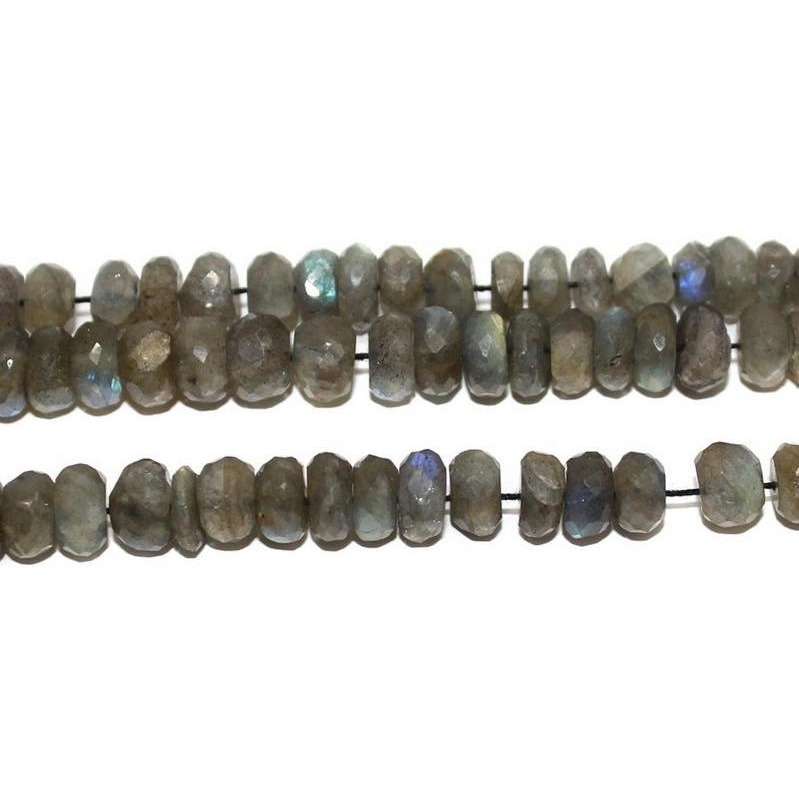 Beadsnfashion Jewelry Making Labradorite faceted beads 7 mm